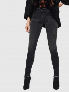 Tmavě šedé dámské skinny fit džíny Diesel - XS