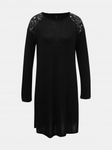 Černé svetrové šaty s krajkou ONLY Karla - XS