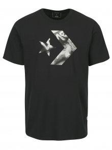 Tmavě šedé pánské triko s potiskem Converse Cons Star Chevron Photo