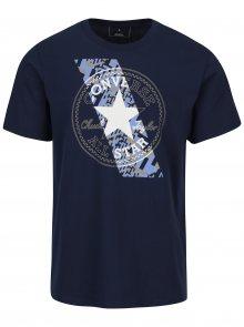 Tmavě modré pánské tričko s krátkým rukávem Converse Chuckpatch