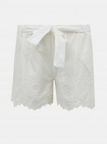 Bílé kraťasy s madeirou ONLY Sherey - XS