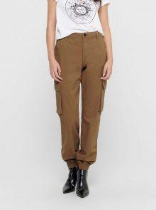 Hnědé kalhoty ONLY Madea - XXL