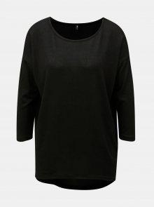 Černý volný svetr s 3/4 rukávem ONLY Elcos - M
