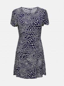 Tmavě modré vzorované šaty ONLY - XS