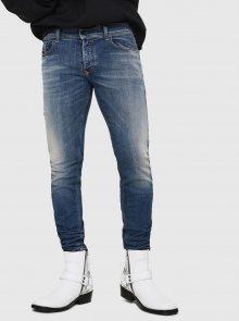 Modré pánské skinny fit džíny Diesel - XS