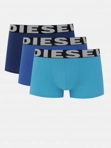 Sada tří pánských modrých boxerek Diesel - S