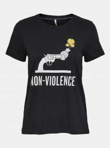 Černé tričko  s potiskem ONLY Non - XS
