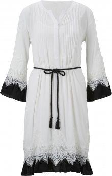 heine Šaty bílá / černá