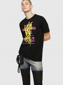 Černé pánské tričko Diesel - S