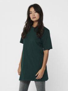 Tmavě zelené oversize tričko Jacqueline de Yong Kris - S