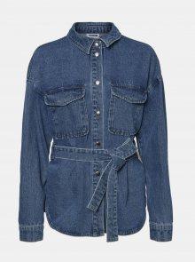 Modrá džínová košile Noisy May Emily - S