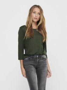 Khaki tričko Jacqueline de Yong Saga - XS