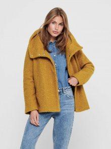 Hořčicový krátký kabát Jacqueline de Yong Sonya - XS