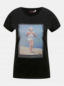 Černé tričko ONLY Marilyn Monroe - XS