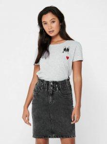 Šedé tričko Jacqueline de Yong Cute - S
