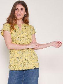 Žluté vzorované tričko Brakeburn - M