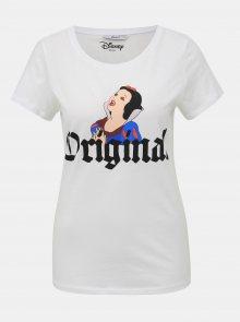 Bílé tričko s potiskem ONLY Disney Princess - S
