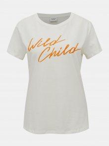 Bílé tričko Jacqueline de Yong Brenda - XS