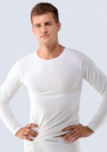 Pánské tričko Bamboo GINA 58004 M/L Bílá