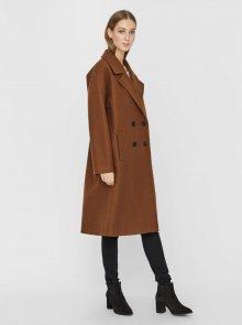 Hnědý dlouhý kabát VERO MODA Lola - XS