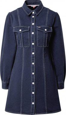 Tommy Jeans Košilové šaty modrá