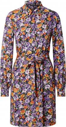 PIECES Košilové šaty fialová