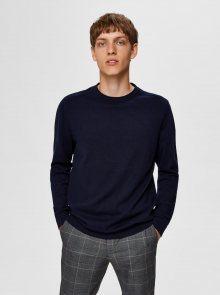 Tmavě modrý basic svetr Selected Homme Berg