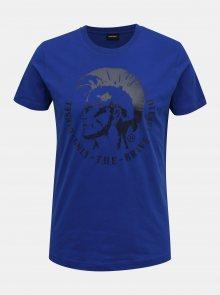 Modré pánské tričko Diesel - S