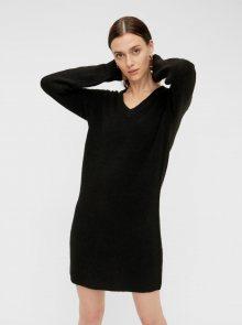 Černé svetrové šaty Pieces Ellen - XS