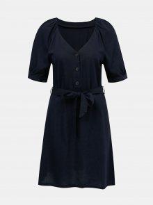 Tmavě modré lněné šaty VERO MODA Day - XS