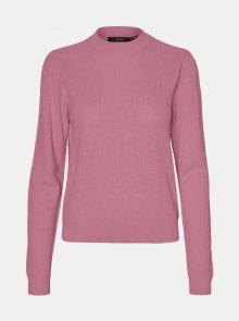 Růžový lehký svetr se stojáčkem VERO MODA Galex - XS
