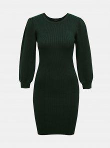 Tmavě zelené svetrové pouzdrové šaty VERO MODA Darma - XS