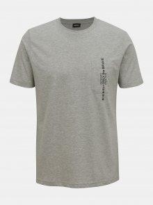 Šedé pánské tričko Diesel - S