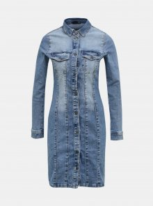 Modré džínové košilové šaty VERO MODA - XS