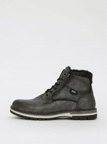 Šedé pánské kotníkové zimní boty Tom Tailor - 41