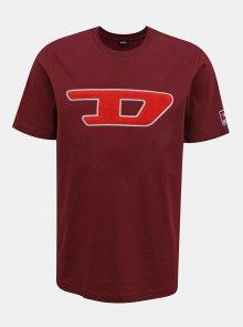 Vínové pánské tričko Diesel - S