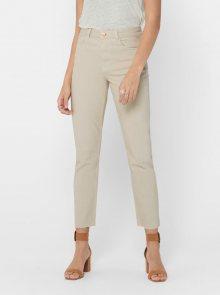 Béžové straight fit džíny ONLY Emily - XS
