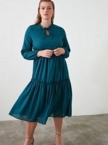 Petrolejové šaty Trendyol - XS