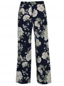 Tmavě modré lehké květované kalhoty Dorothy Perkins