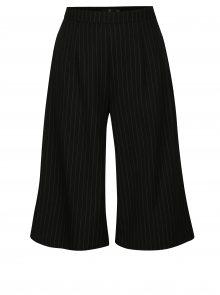 Černé pruhované culottes kalhoty MISSGUIDED
