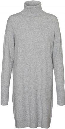 Vero Moda Dámské šaty VMBRILLIANT 10199744 Light Grey Melange XS