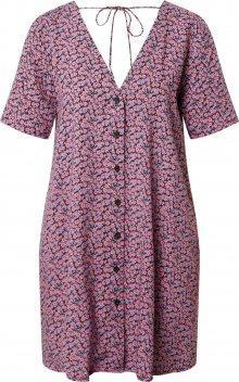 Motel Košilové šaty \'Crosena\' pink / černá / tyrkysová