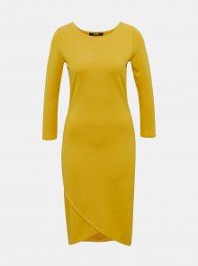 Žluté pouzdrové basic šaty ZOOT Baseline Berit