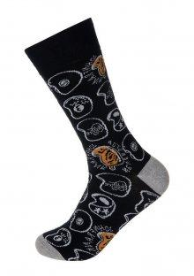 Pánské ponožky John Frank JFLSFUN03 UNI Černá