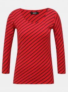 Červené dámské pruhované tričko ZOOT Karin
