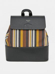 Hnědo-černý pruhovaný batoh Bessie London