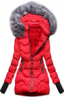 MODOVO Zimní bunda s kapucí červená