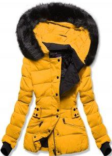 MODOVO Dámská zimní bunda s kapucí hořčicová