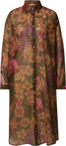 Mes Demoiselles Košilové šaty \'Amaranto\' mix barev / khaki