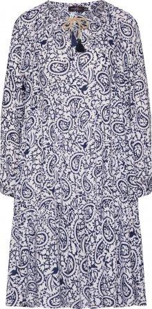 Zwillingsherz Šaty \'Luna\' bílá / modrá